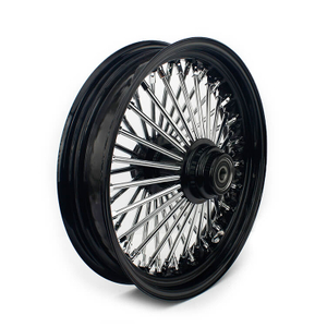 Spoke Tubeless Black Front Single Disc Wheel for Harley