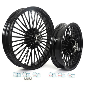 Motorcycle front rear dual disc wheels for Harley Davidson Softail Dyna Touring VRSC