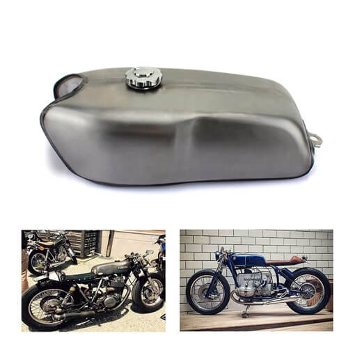 RD50 Stainless Steel Cafe Racer Motorcycle Fuel Tank
