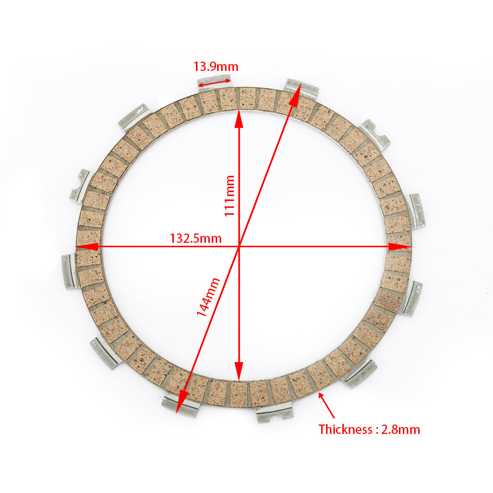 144mm Wholesale Motorcycle Clutch Plate for Kawasaki / Yamaha