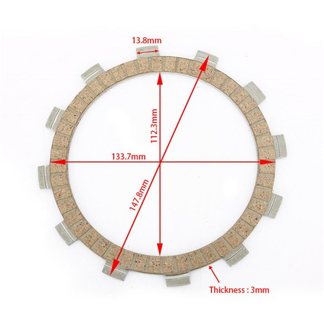 Tarazon Paper Based Material Motorcycle Clutch Friction Plate for YAMAHA